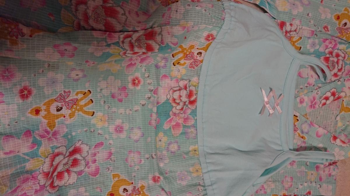 【新品】サンリオ ハミングミント 浴衣 帯付き 110㎝ 6370円のお品_画像2