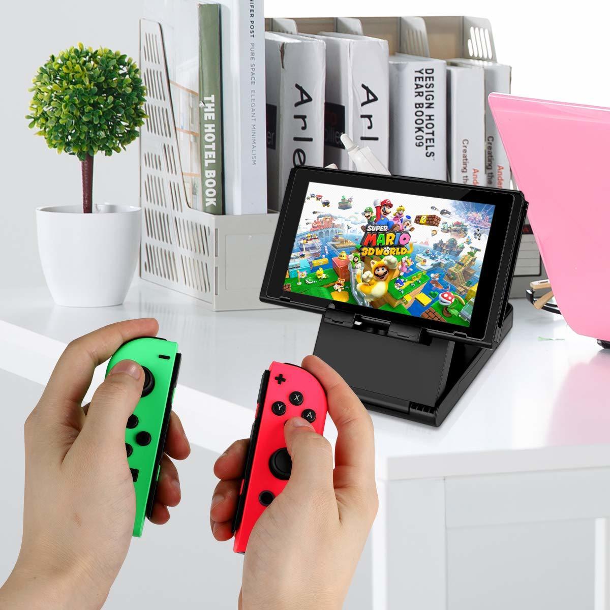 Nintendo Switch ケース 任天堂スイッチケース 保護カバー グリップ スタンド機能付き スイッチケース キャリング 大容量 収納バッグ 防水_画像7