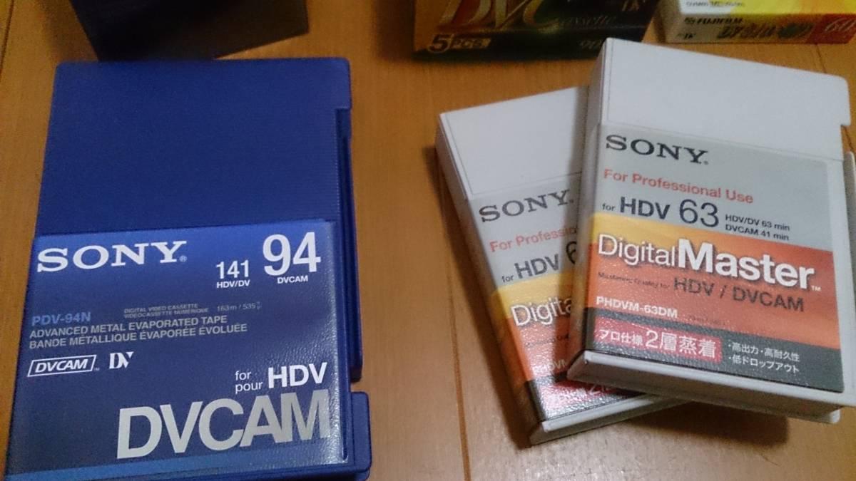 ビデオカメラ用 新品 miniDVテープ DVCAMテープ HDVテープ セット ミニDV_画像2