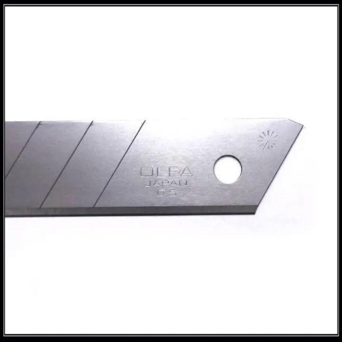 【送料無料】カッターナイフ 刃 100枚セット OLFA 替刃 切 カッター まとめ 0.5 文房具 カッター 事務用品 梱包 大量_画像3