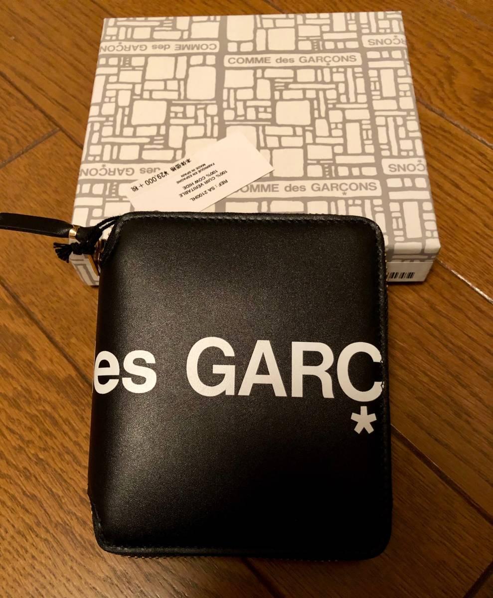 国内正規 新品 COMME des GARCONS 19SS HUGE LOGO ラウンドジップ レザー ウォレット 財布 コムデギャルソン_画像2