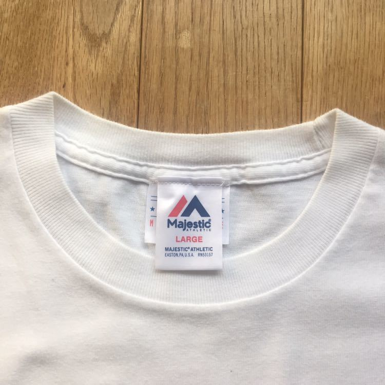 M.V.P. × BBP BX × Majestic Athletics NEW YORK NEW YORK トリプルコラボTシャツ Lサイズ DJ MURO A-1 CLOTHING GRAND MASTER FLASH_画像3