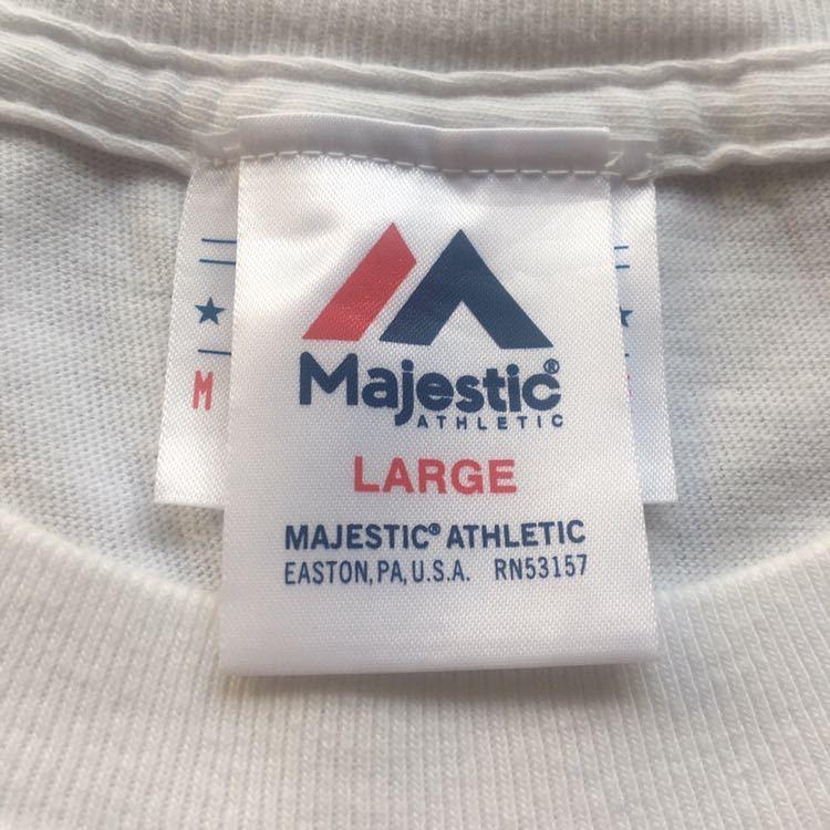 M.V.P. × BBP BX × Majestic Athletics NEW YORK NEW YORK トリプルコラボTシャツ Lサイズ DJ MURO A-1 CLOTHING GRAND MASTER FLASH_画像4