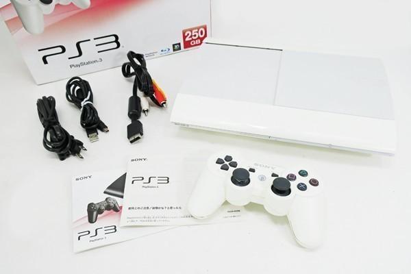 【新品同様】 PS3 250GB 本体 CECH-4200BLW クラシック ホワイト PlayStation 3希少_画像4