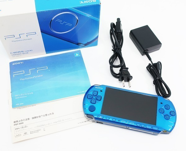 【新品同様】 PSP-3000 PSP 本体 バイブラント・ブルー PSP-3000VB 希少 店頭展示品_画像4