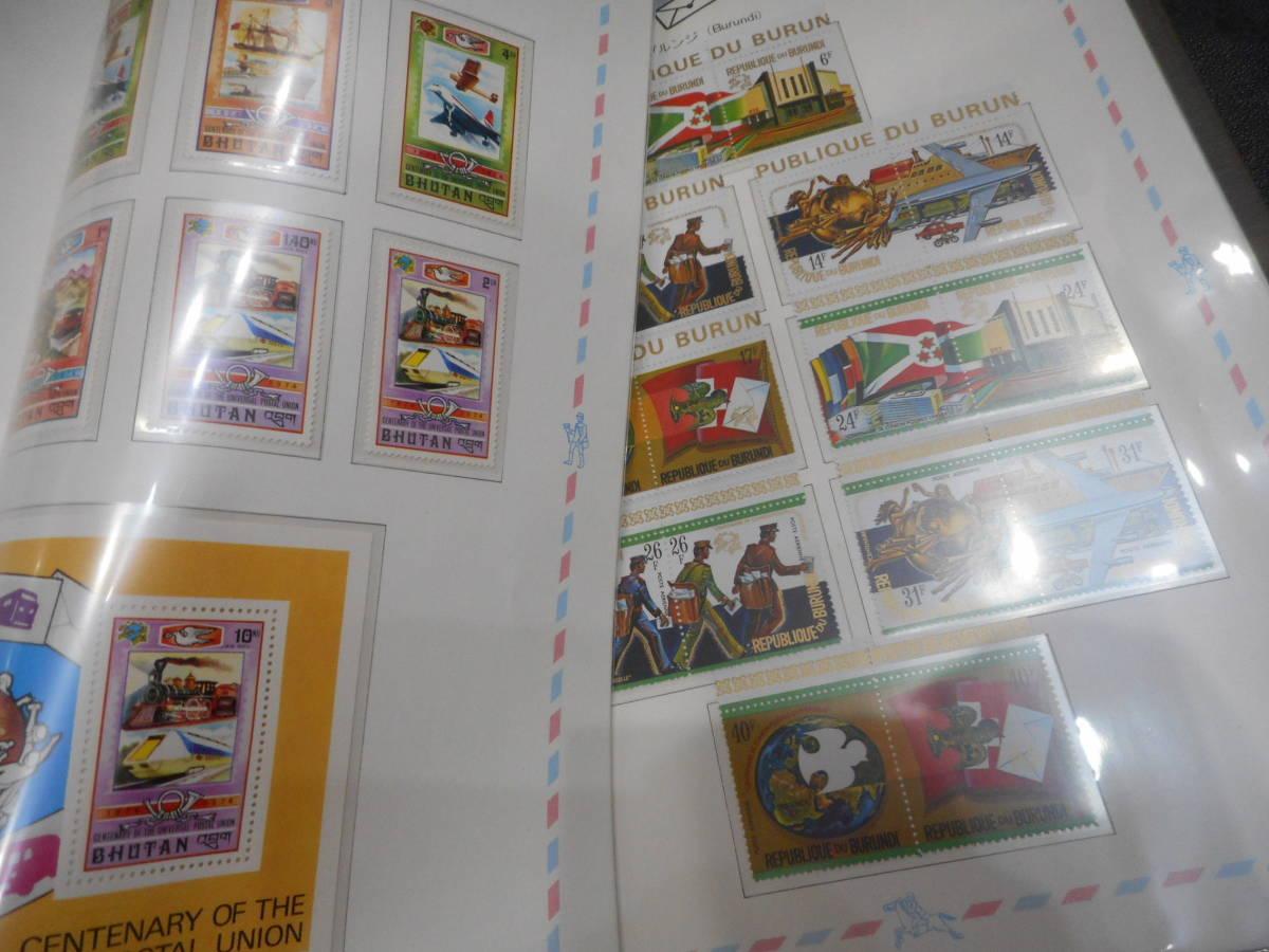 希少 UPU【万国郵便連合100年記念 アルバム 外国切手◆記念切手◆専用ストックブック付き】未使用切手 2冊まとめて_画像5