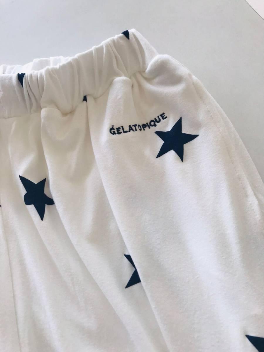 新品未使用品 ジェラートピケ スター星柄Tシャツ&ハーフパンツセット メンズ 部屋着 ルームウエア Lサイズ 取り置き同梱OK_画像3