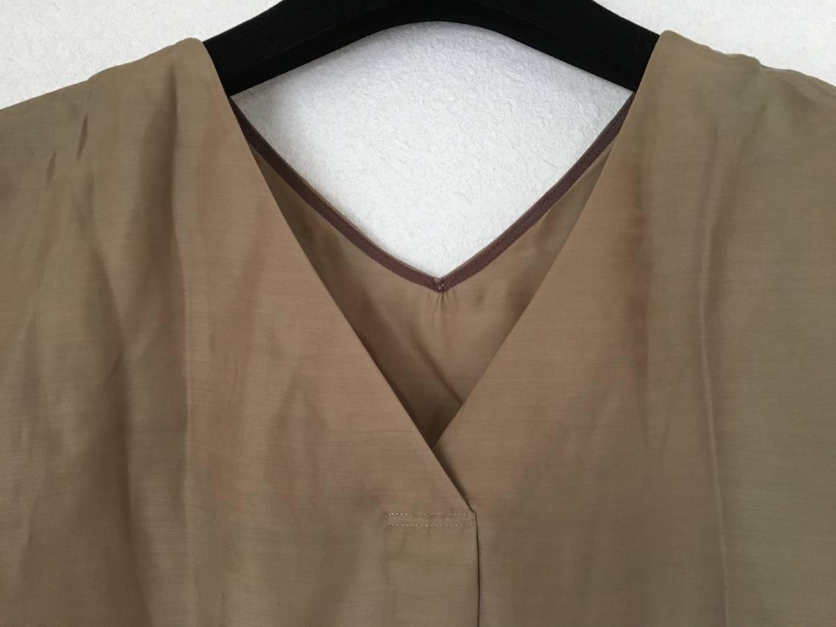 【未使用】Loungedress ラウンジドレス ★ ブラウスとギャザースカートのセット ツーピース カーキ 定価¥31,000_画像5