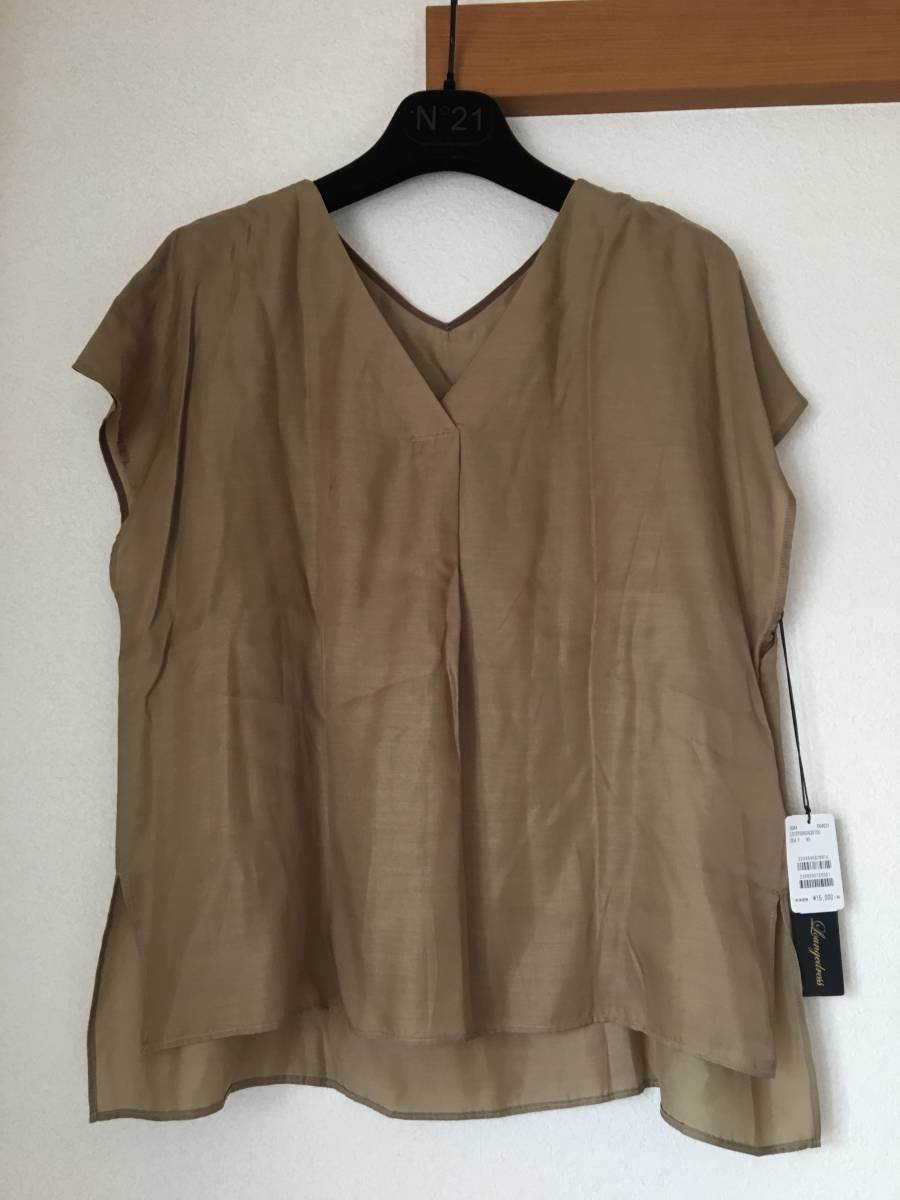 【未使用】Loungedress ラウンジドレス ★ ブラウスとギャザースカートのセット ツーピース カーキ 定価¥31,000_画像2
