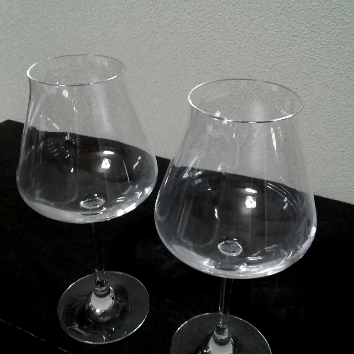 バカラ Baccarat シャトーバカラ ワイングラスS ペア 2客 未使用 保管品 美品_画像2