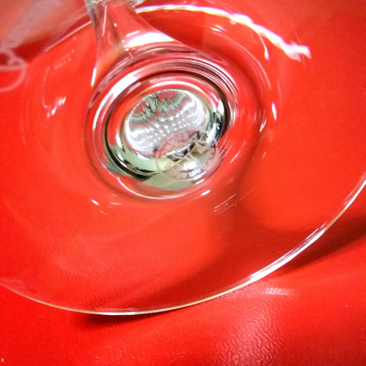 バカラ Baccarat シャトーバカラ ワイングラスS ペア 2客 未使用 保管品 美品_画像4