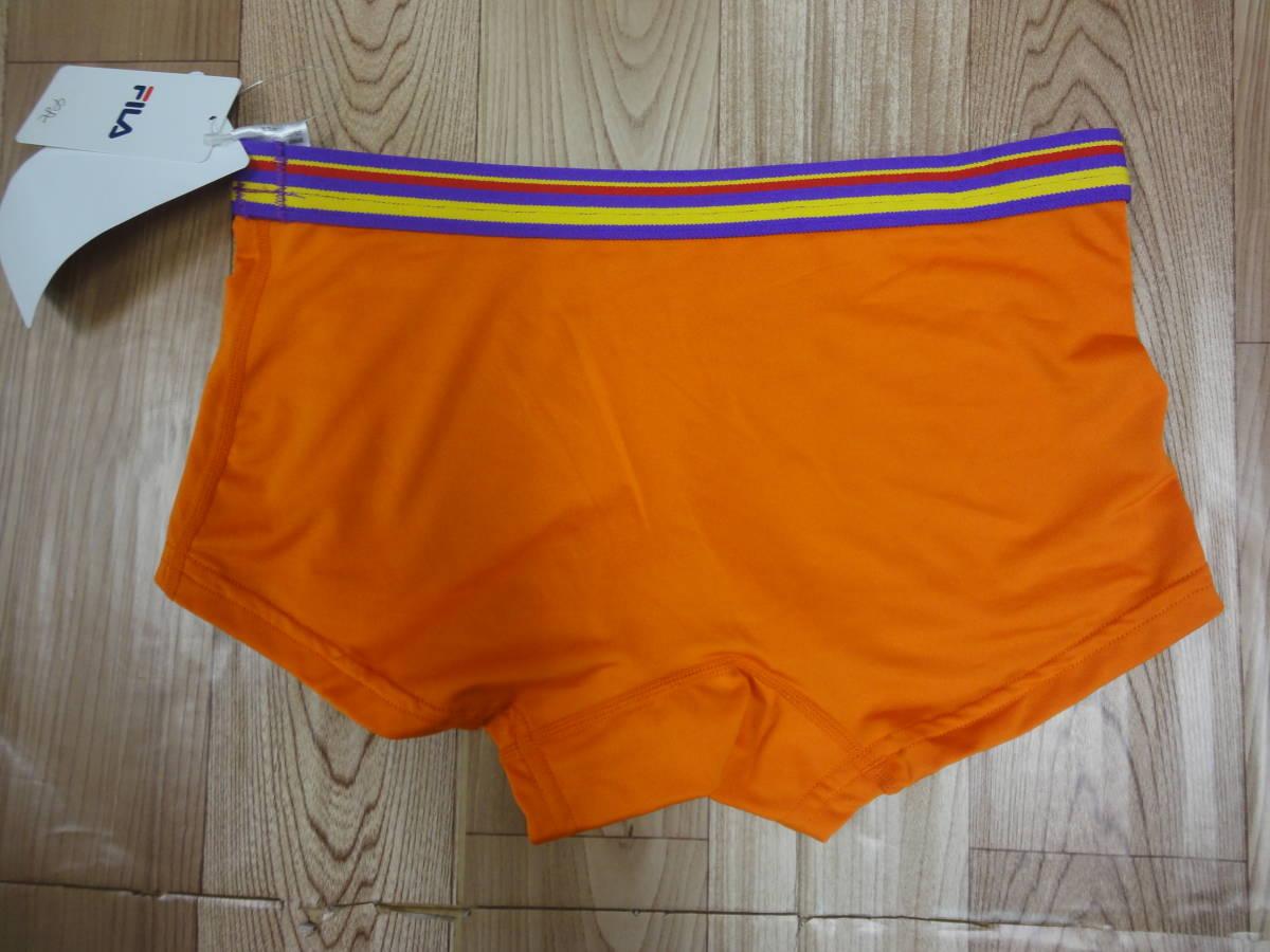訳有新品★FILA フィラ レディースインナーパンツ☆セミボクサータイプ L オレンジ 578_画像5