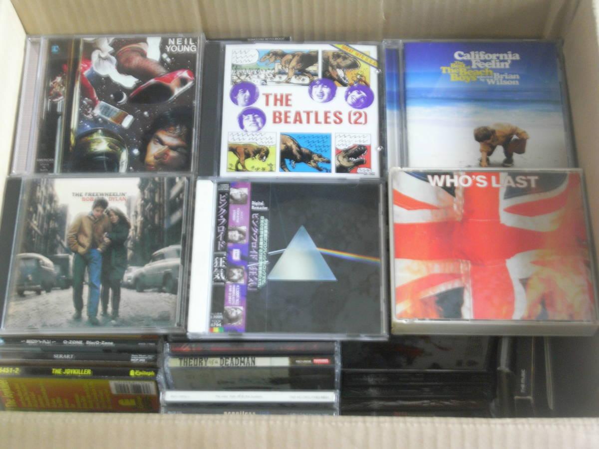 洋楽 CDアルバム 大量 180枚セット / BEATLES、BOB DYLAN、PINK FLOYD、THE WHO、BEACH BOYS、NEIL YOUNG 他