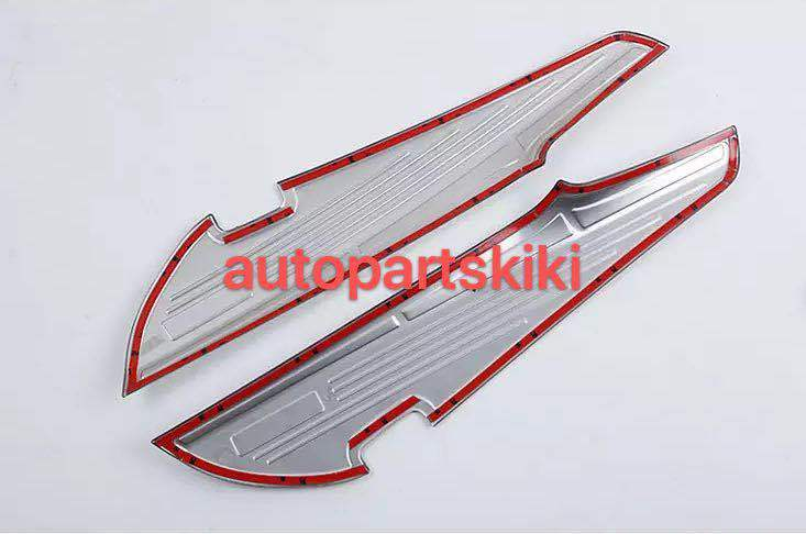 新品 トヨタ アルファード/ヴェルファイア 30系 専用 ドア カバー プロテクションフィルム・ドアスカッフプレート シルバー 2P_画像3