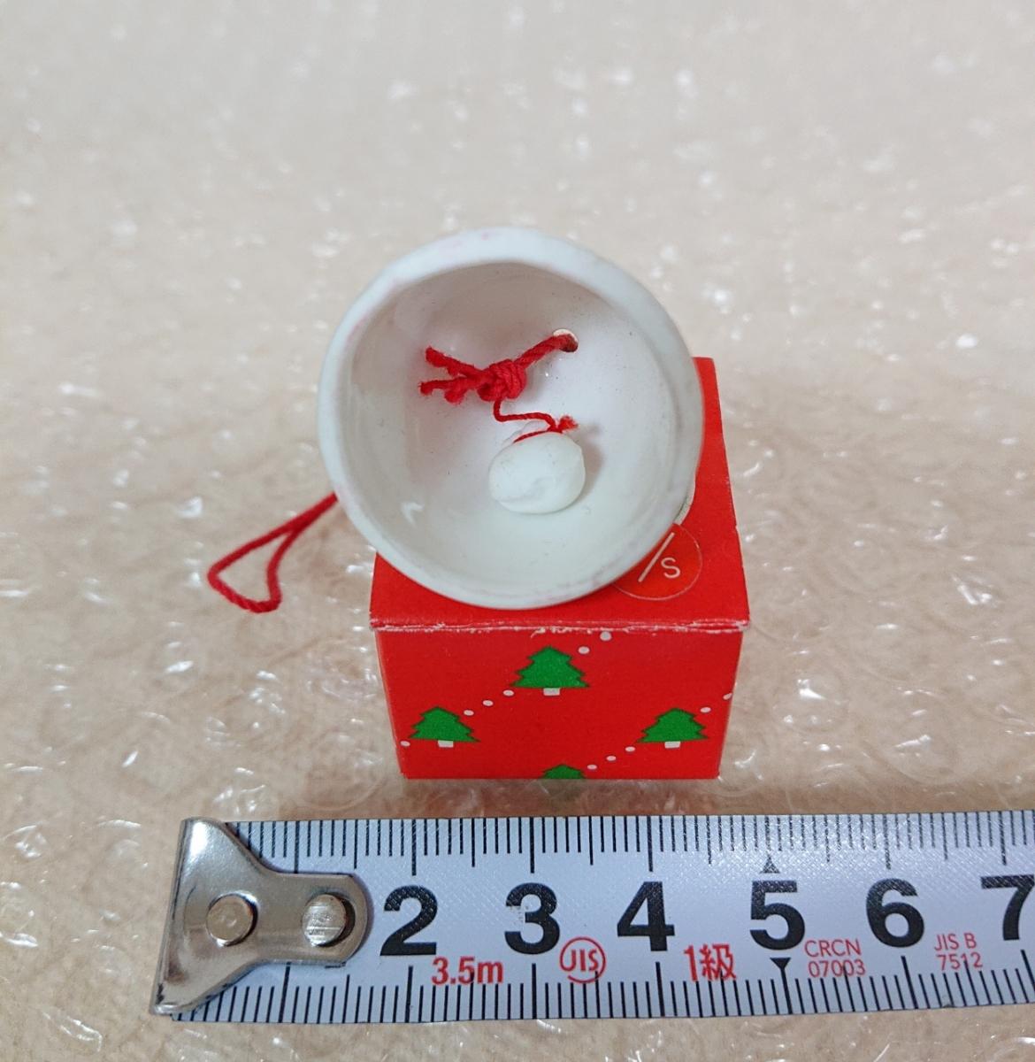 昭和レトロ サンリオ 1976年 Little Twin Stars キキララ 陶器製 ベル クリスマス マスコット ミニチュア 当時もの SANRIO _画像3