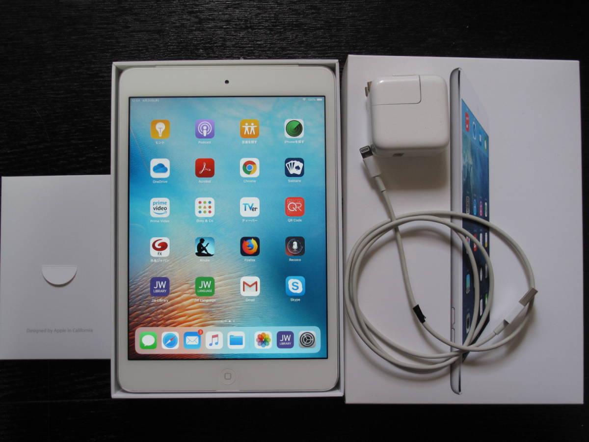 1円スタート apple iPad mini 2 Wi-Fi+Cellular 16GB Silver ME814JA/A