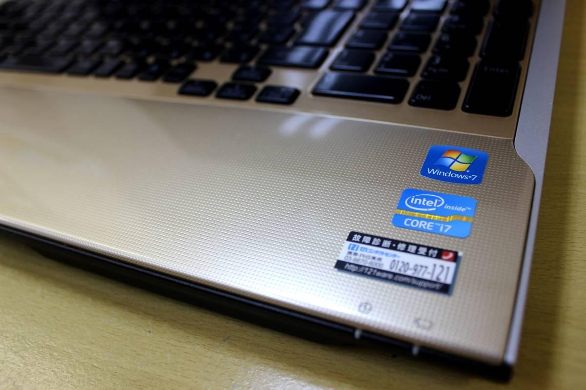 ★新品SSD512GB搭載★ Core i7-3610QM(Ivy Bridge) NEC LL750/H◇ メモリ8G office【YAMAHAサウンド】Blu-ray Webカメラ 最新 Windows10_画像6