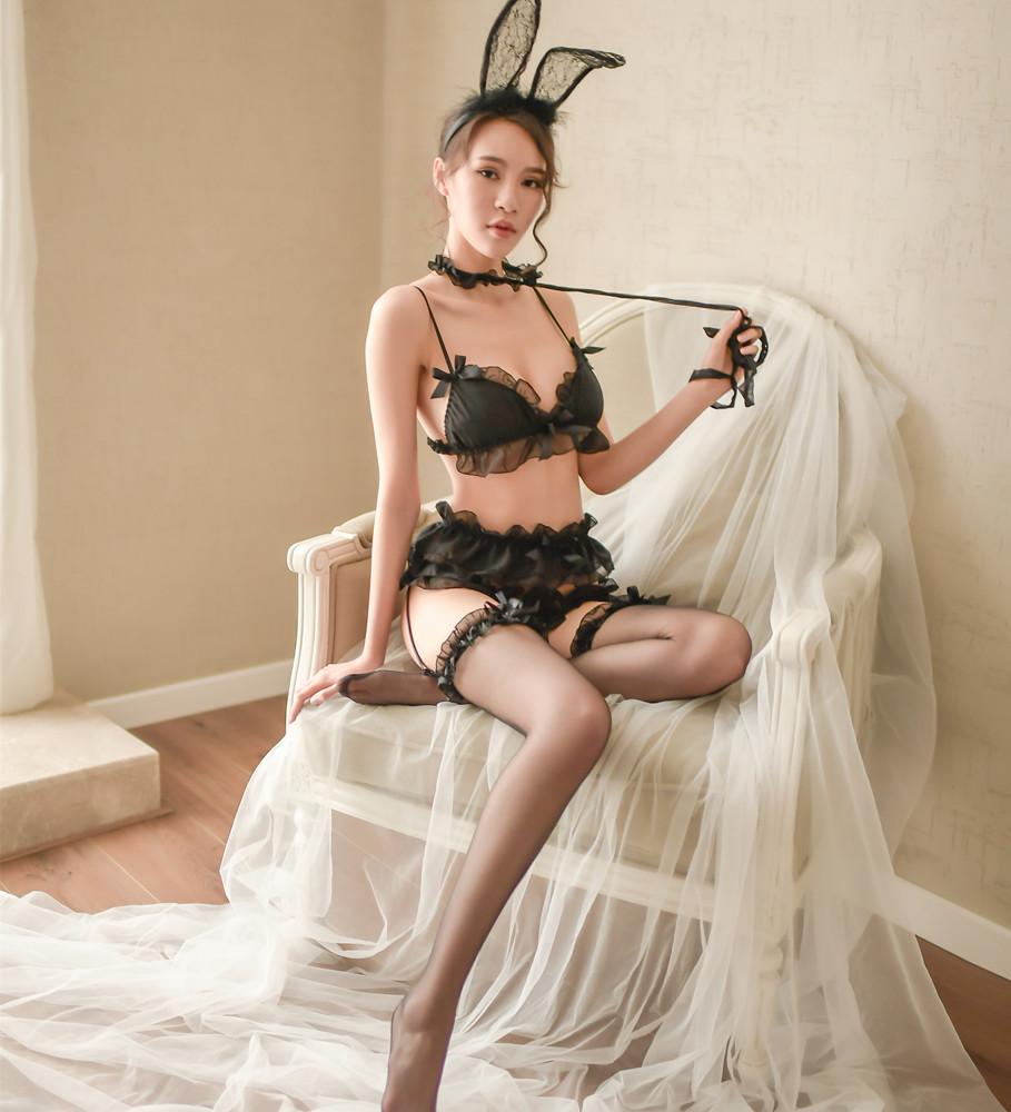 W152 セクシーランジェリー ベビードール ガーターベルトセット コスプレ衣装 メイド服 ナイトウェア_画像8