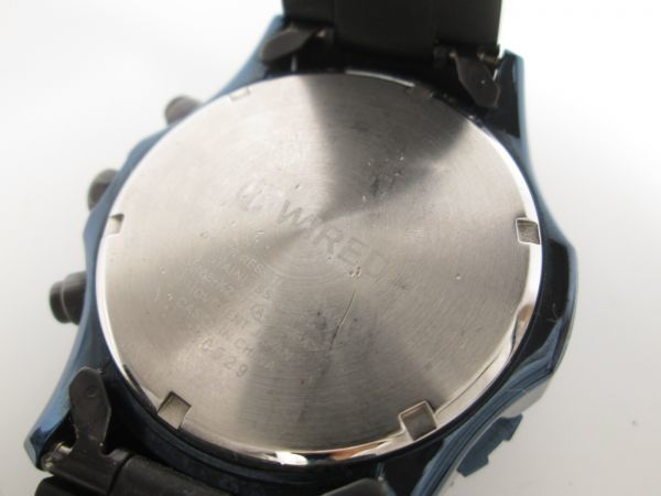 SEIKO セイコー WIRED ワイアード クロノグラフ クォーツ 回転ベゼル VK63-K270 ブルーブラック メンズ腕時計_画像6