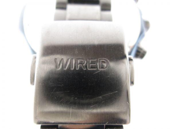 SEIKO セイコー WIRED ワイアード クロノグラフ クォーツ 回転ベゼル VK63-K270 ブルーブラック メンズ腕時計_画像7
