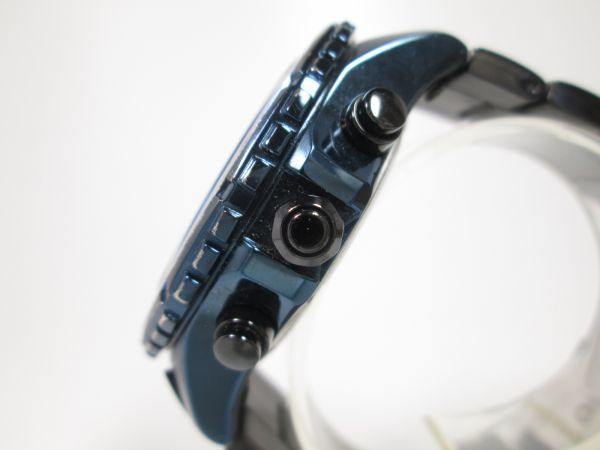 SEIKO セイコー WIRED ワイアード クロノグラフ クォーツ 回転ベゼル VK63-K270 ブルーブラック メンズ腕時計_画像4