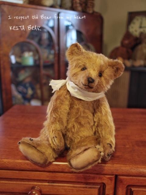 テディベア☆KEITA BEAR いつも一緒♪アンティーク風クラシックオールドベア♪…ボロクタちゃん_画像10