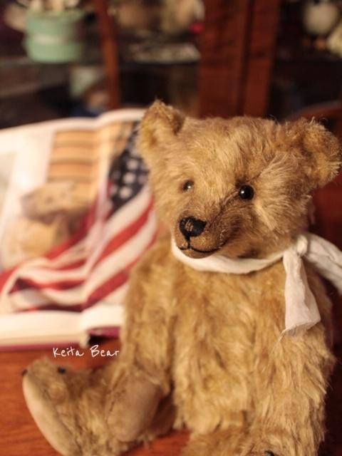 テディベア☆KEITA BEAR いつも一緒♪アンティーク風クラシックオールドベア♪…ボロクタちゃん_画像2