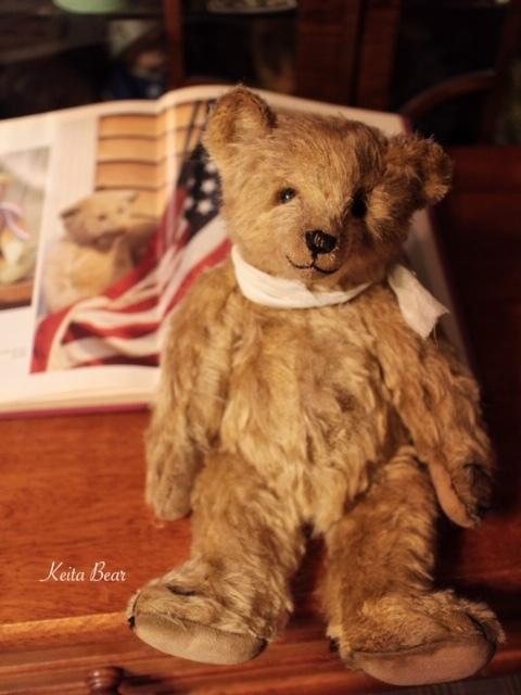 テディベア☆KEITA BEAR いつも一緒♪アンティーク風クラシックオールドベア♪…ボロクタちゃん_画像3