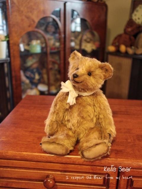 テディベア☆KEITA BEAR いつも一緒♪アンティーク風クラシックオールドベア♪…ボロクタちゃん_画像9