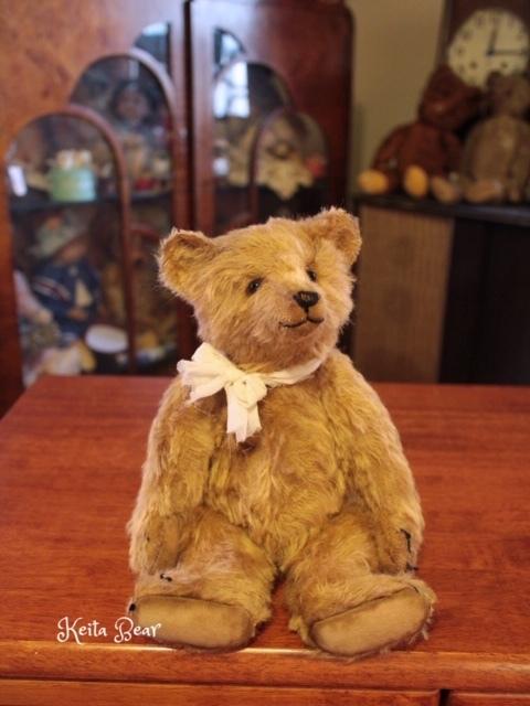 テディベア☆KEITA BEAR いつも一緒♪アンティーク風クラシックオールドベア♪…ボロクタちゃん_画像8