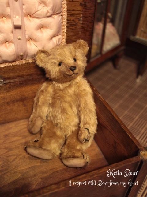 テディベア☆KEITA BEAR いつも一緒♪アンティーク風クラシックオールドベア♪…ボロクタちゃん_画像5