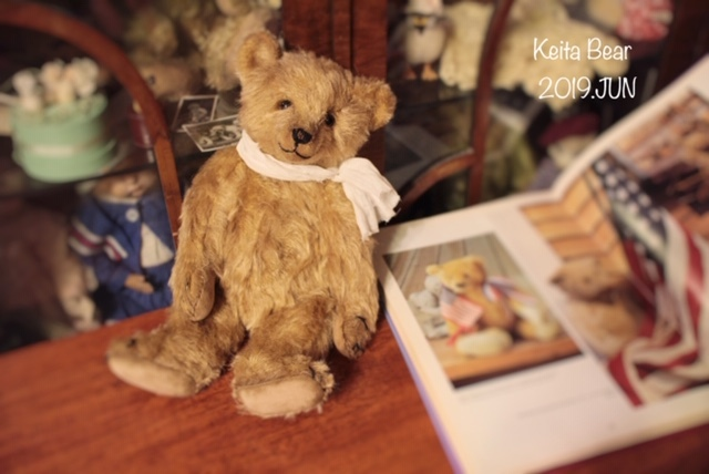 テディベア☆KEITA BEAR いつも一緒♪アンティーク風クラシックオールドベア♪…ボロクタちゃん_画像7