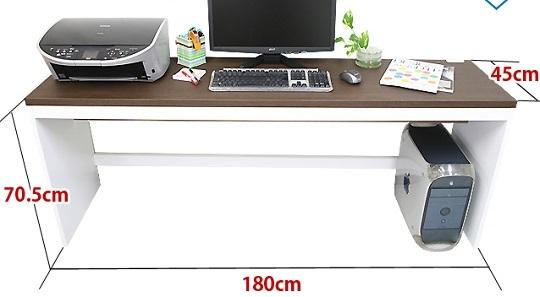 薄型パソコンデスク幅180cmハイタイプ ホワイト色/PCデスク/机/つくえ_画像2