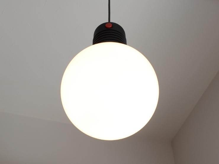 アンティーク照明 ヴィンテージ デザインライト ミルクガラス ペンダントランプ(スイッチ付き)_画像2