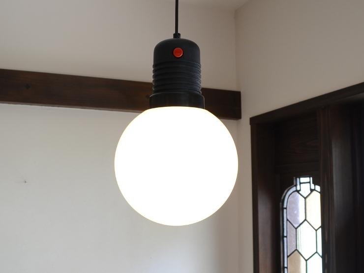 アンティーク照明 ヴィンテージ デザインライト ミルクガラス ペンダントランプ(スイッチ付き)_画像1