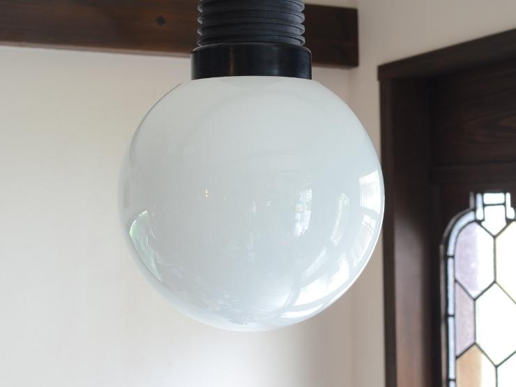 アンティーク照明 ヴィンテージ デザインライト ミルクガラス ペンダントランプ(スイッチ付き)_画像5
