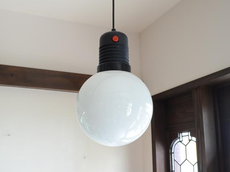 アンティーク照明 ヴィンテージ デザインライト ミルクガラス ペンダントランプ(スイッチ付き)_画像4