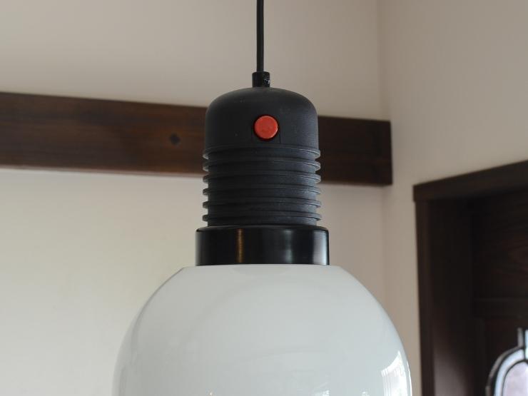 アンティーク照明 ヴィンテージ デザインライト ミルクガラス ペンダントランプ(スイッチ付き)_画像7