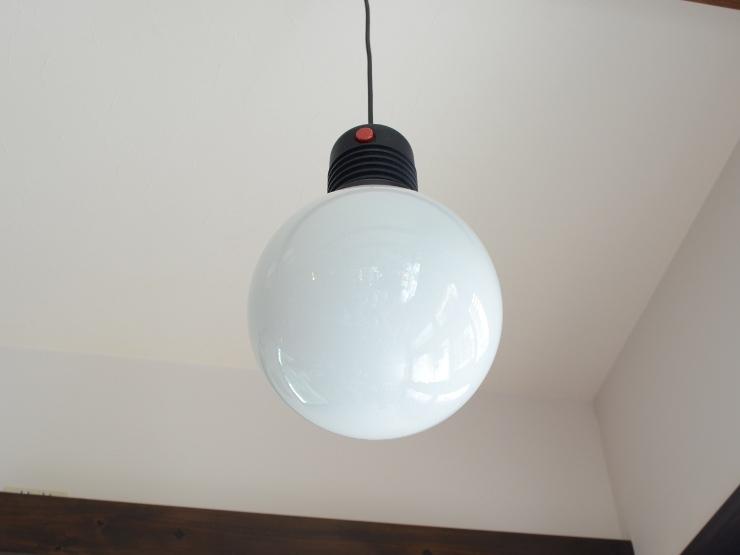 アンティーク照明 ヴィンテージ デザインライト ミルクガラス ペンダントランプ(スイッチ付き)_画像6