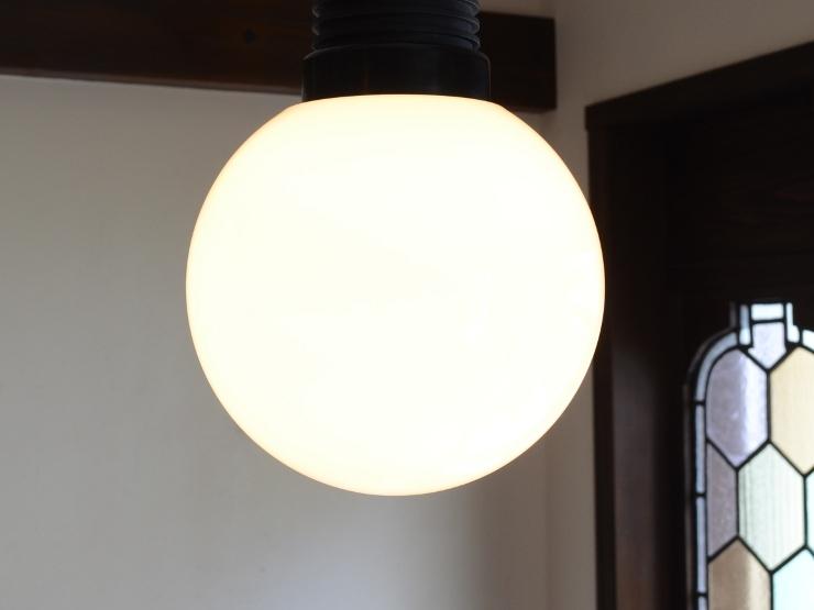 アンティーク照明 ヴィンテージ デザインライト ミルクガラス ペンダントランプ(スイッチ付き)_画像3