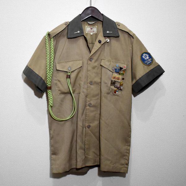 1970年 大阪万博 協会警備隊 制服シャツ ピンバッジ多数 当事物_画像1