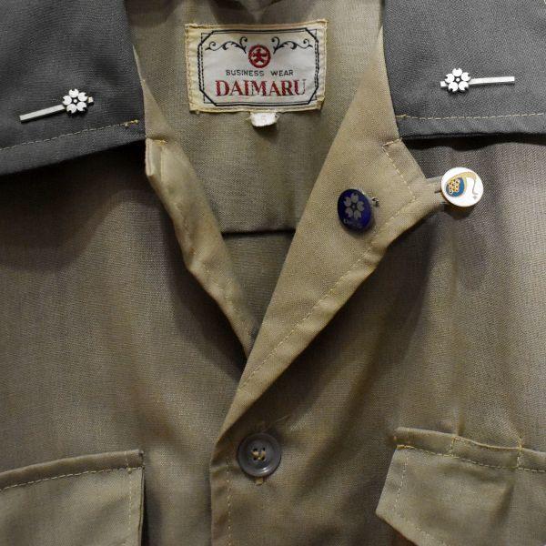 1970年 大阪万博 協会警備隊 制服シャツ ピンバッジ多数 当事物_画像5
