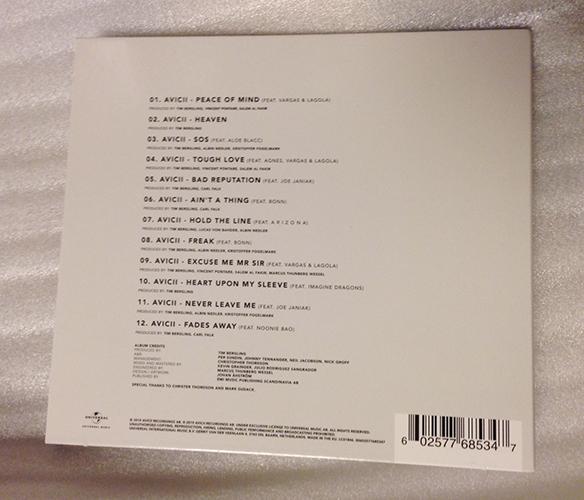 Avicii/アヴィーチー「TIM」輸入盤★美品_画像2