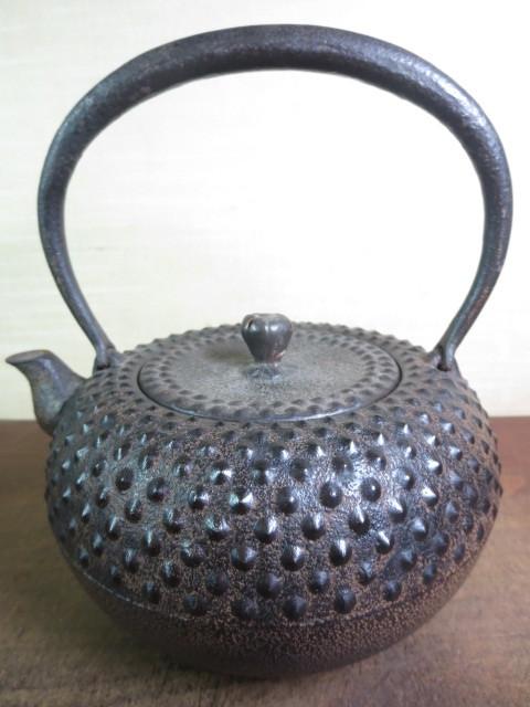 【大吉】 未使用 南部三厳堂 半砂鉄 鉄瓶   0171_画像3