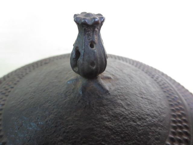 【大吉】 南部 半砂鉄 霰鉄瓶 在銘  0136_画像7