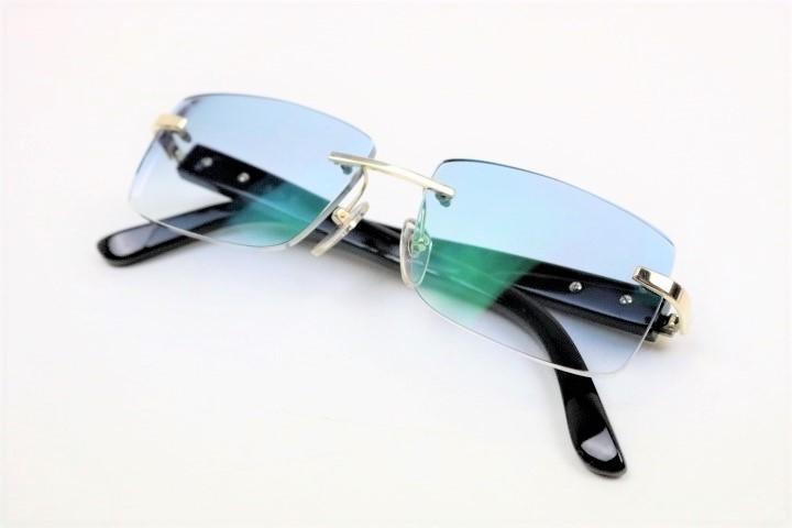 22WAH 最高級 良加根/よしかね 眼鏡 14金 ホワイトゴールド K14 K14WG 刻印あり 天然国産
