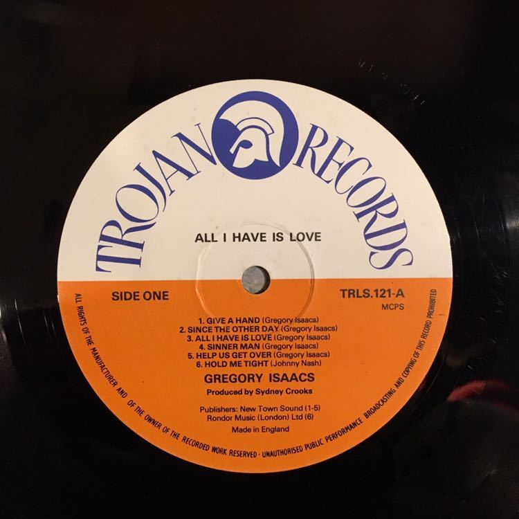 Gregory Isaacs / All I Have Is Love reggae レゲエ LP レコード_画像3