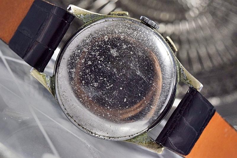 売切り!!1円~cal.175の原型★ヴィンテージ クロノグラフ 手巻き 腕時計 ビーナス cal.150 ヴィーナス Venus 飛びアラビア 1940-1950's_画像8