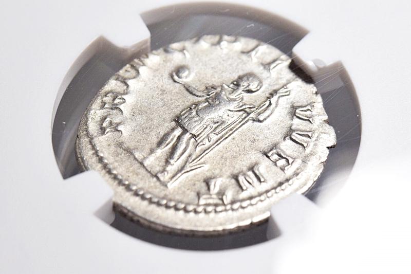 NGC鑑定AU★古代ローマ帝国 フィリップ2世 AD247-249 ダブルデナリウス銀貨 ローマ領エジプト フランク王国 フランス革命 アンティーク_画像4