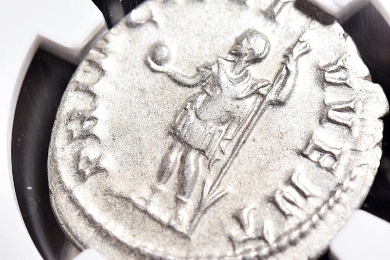 NGC鑑定AU★古代ローマ帝国 フィリップ2世 AD247-249 ダブルデナリウス銀貨 ローマ領エジプト フランク王国 フランス革命 アンティーク_画像8